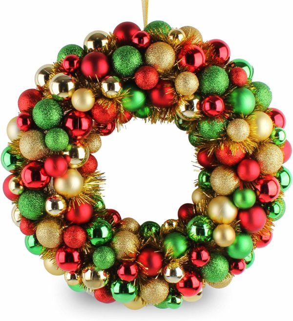 Christmas Wreath Ball Ornaments
